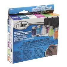 trend colors testors 0 25 oz 6 color acrylic paint set trend colors 4 pack