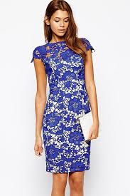 royal blue knee length dress with lace sleeves other dresses dressesss