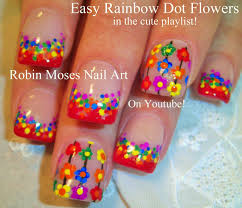 easy nail art flowersnailnailsart nail art tropical winter