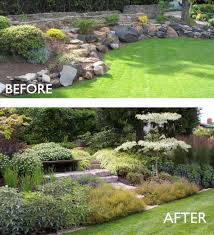 landscaping small ideas on budget backyard slope see the plants i