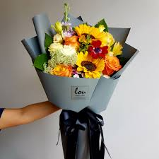 bouquet of sunflowers sunflower bouquet lou flower studio