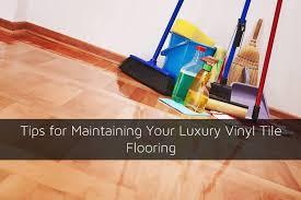 tips for maintaining your luxury vinyl tile flooring jpg