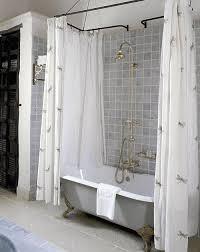 Claw Foot Tub Shower Curtains 15 Clawfoot Tub Shower Curtain Rod Bedding And Bath Sets