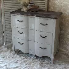 french grey vintage style chest drawers home bedroom furniture