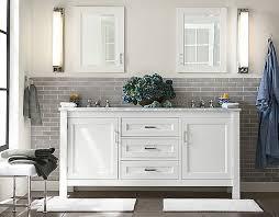 pottery barn bathroom lighting sink console metal bath stool alcott tube sconce classic rug pottery
