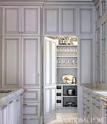 Traditional Home Great Kitchens - a great day for gray refrigerator freezer wall photos and pantry