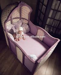 Baby Crib Side Bed Modern European Wooden Baby Crib With Valance Bf01 70312