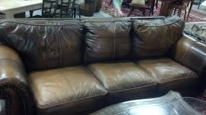 Soft Leather Sofa Soft Plush Leather Sofa Lowcountry Consignments New