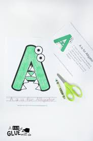 animal alphabet a is for alligator craft a dab of glue will do