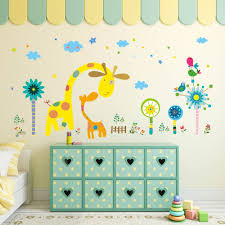 popular wall decor flowers for kids buy cheap wall decor flowers removable cartoon cute wall decor sticker animal pvc diy wall poster colorful vinyl wallpaper for baby