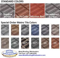 Roof Tile Colors Metro Tile Colors Metal Roofing Wholesalers