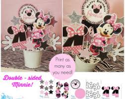 Centerpieces For Minnie Mouse Party by Minnie Centerpiece Etsy