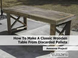 How To Make Patio Furniture Out Of Pallets by Pallet Table1 Jpg