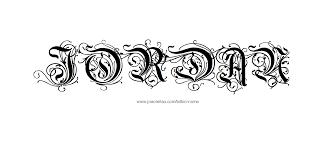 jordan name tattoo designs