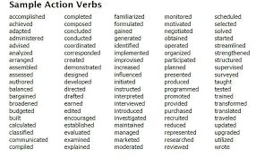 Best Resume Action Words by Great Resume Action Verbs Contegri Com