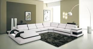 canapé panoramique deco in 0 canape panoramique cuir blanc et noir design avec