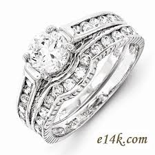 interlocking engagement ring wedding band sterling silver cz jewelry cubic zirconia jewelry cz rings in 14k