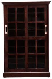 Media Cabinet With Sliding Doors Sei Sliding Door Media Cabinet Brown Ms1071t Best Buy