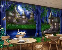 custom photo 3d wallpaper mural forest castle fairy tale picture custom photo 3d wallpaper mural forest castle fairy tale picture decoration painting 3d wall murals wallpaper for living room in wallpapers from home