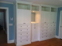 Bedroom Storage Cabinets With Doors Bedroom Built In Dresser Made Master Bedroom Built In By