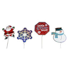 Outdoor Christmas Decorations Stakes by Northlight 24 Piece Holographic Lawn Stake Pathway Markers Outdoor