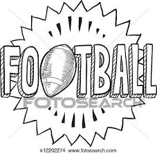 clipart of american football sketch k12202274 search clip art