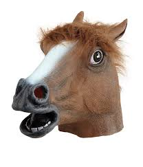 Halloween Rubber Masks Magical Unicorn Mask Halloween Creepy Unicorn Head Latex