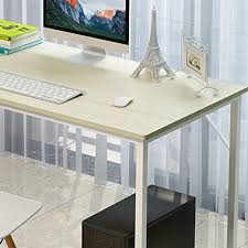 bureau couleur soges table 120x60cm table pour ordinateur table compacte et