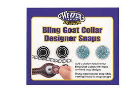 Decorative Snaps Bling Goat Collar Snaps Beaded