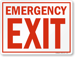 photo emergency exit signs images building code emergency