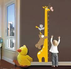 stickers girafe chambre bébé diy girafe toise mesure stickers muraux décoration murale de bande