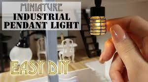 Diy Drum Pendant Light by Diy Miniature Industrial Pendant Light Youtube