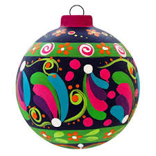 create a festive with painted ornaments