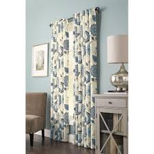 Home Depot Curtains Home Decorators Collection Semi Opaque Indigo Floral Cottage