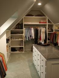 decorations adorable attic closet idea with mirror wall and