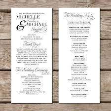 simple wedding ceremony program creative wedding programs creative wedding programs wedding