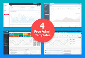 4 best and free admin dashboard templates download now