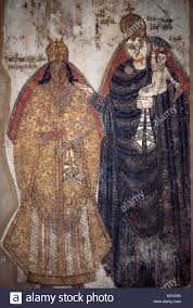 a fine early coptic wall mural depicting the virgin mary and jesus a fine early coptic wall mural depicting the virgin mary and jesus which came from