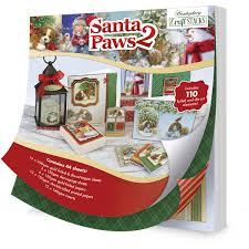 hunkydory santa paws 2 craft stack 44 sheets hobbycraft