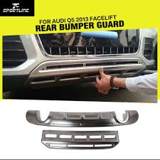 Audi Q5 Facelift - stainless steel car front bumper guard car rear bumper guard for