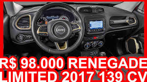 jeep renegade interior interior r 98 000 jeep renegade limited 2017 at6 4x2 1 8 e torq