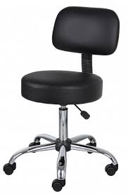 Small Desk Chairs With Wheels Small Office Chairs On Wheels Black Caressoft Stool
