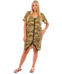 Plus Size Camouflage Clothing Size Camouflage Thermal Ribbed Mid Length Dress Yd 1007 123x