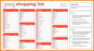 7 grocery shopping list template formatting letter