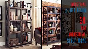 Shelving Furniture Living Room by 30 Diy Industrial Wood And Metal Shelves Youtube
