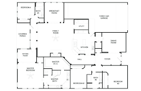 4 bedroom floor plans one story five bedroom house plans one story downloadcs club