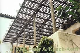 modern wood patio cover with lattice panels los angeles ca