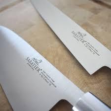 couteau de cuisine professionnel japonais trousse style japonais 3 couteaux avec protection