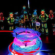 2018 5m neon light 16 4ft glow el wire string rope