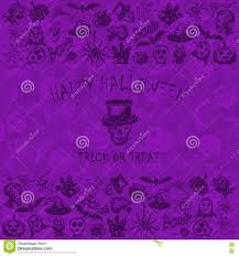 black and purple halloween background violet halloween background with black sketches icons stock vector